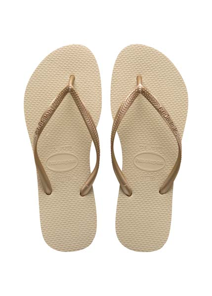 Havaianas slim sand grey/light golden