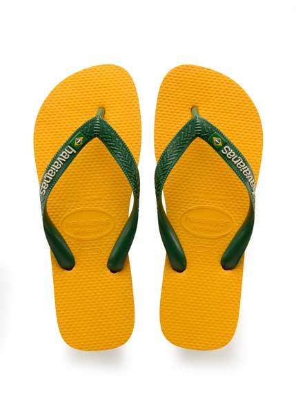 Havaianas brasil logo banana yellow