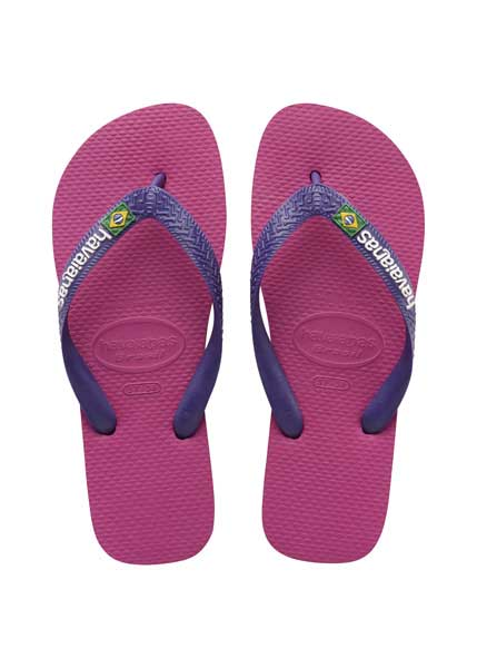 HAVAIANAS BRASIL LOGO RASPBERRY ROSE/NEW PURPLE