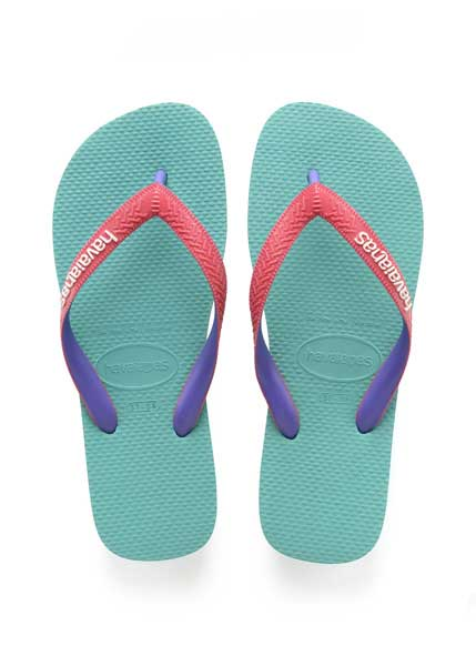 HAVAIANAS TOP MIX LAKE GREEN/FLAMINGO