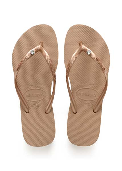 Havaianas slim crystal glamour sw rose gold/metallic rose gold