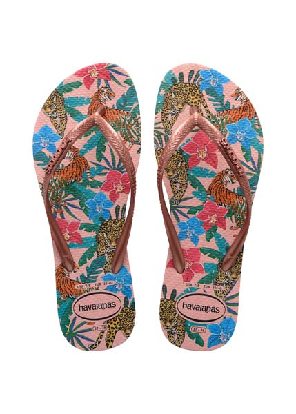 HAVAIANAS SLIM TROPICAL BALLET ROSE/PINK RETRO METALLIC