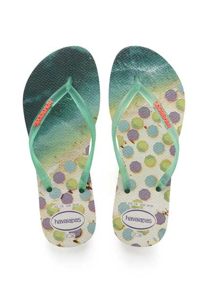Havaianas slim paisage white/mint green