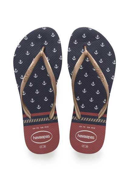 Havaianas slim nautical navy/red