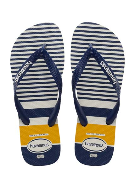 HAVAIANAS TOP NAUTICAL WHITE/NAVY/YELLOW