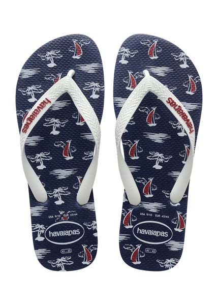 HAVAIANAS TOP NAUTICAL NAVY/WHITE/WHITE